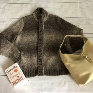 Button Up Oversized Cardigan Wool Alpaca Express L